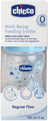 Chicco Wellbeing Bottle PP150ml Blue - 150 ml(Blue)