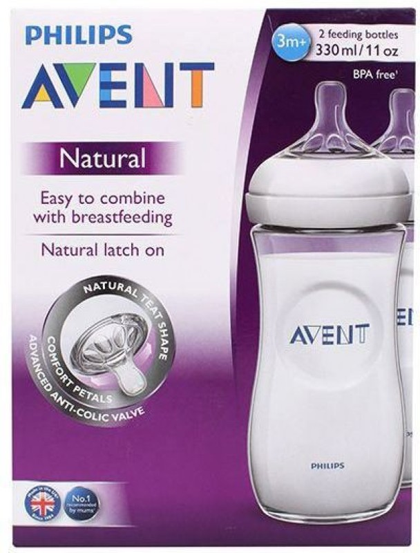 Philips Avent FEEDING BOTTLE TWIN PACK - 330 ml(White)