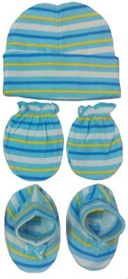 Kerokid Lining Blue Mittens Booties Cap Baby Care combo set