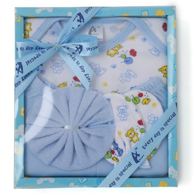 Stuff Jam 4 Piece Gift Set - Blue (0 - 1 Year)