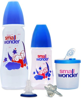 Small Wonder Candy Set of 5 - BPA Free Candy 125ml & 250ml PP Bottle, Orthodontic LSR Pacifier, Breast Shield & 300ml Milk Powder Dispenser