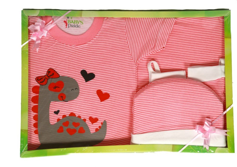 Baby's Pride Baby's Pride Baby Gift Set-7 Pcs (Green) NEW BORN Combo Set(Set of 7)