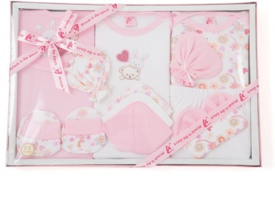 Stuff Jam 12 Piece Gift Set - Pink (0 - 1 Year)