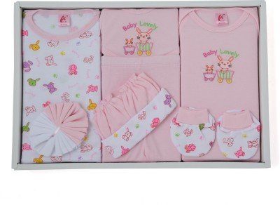 Stuff Jam 9 Piece Gift Set - Pink (0 - 1 Year)