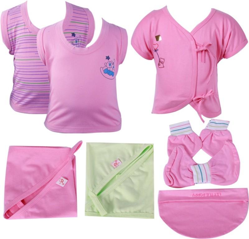 Jo Kidswear Baby Boys Gift Pack ( 7 Pcs )(Pink)
