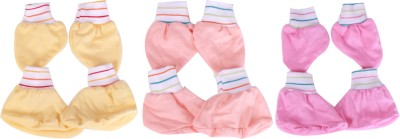 Jo Kidswear Baby Accessories(Yellow,Light Orange,Pink)