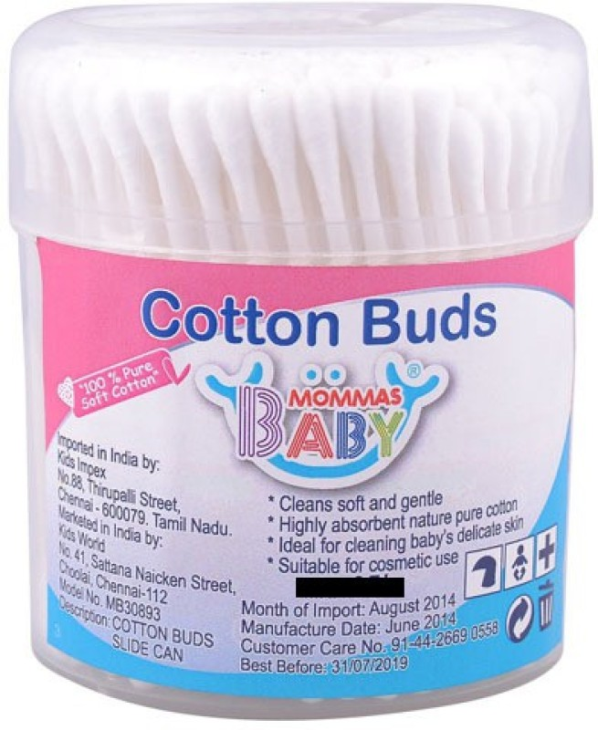 Mommas Baby India Cotton Buds-White(Pack of 200)