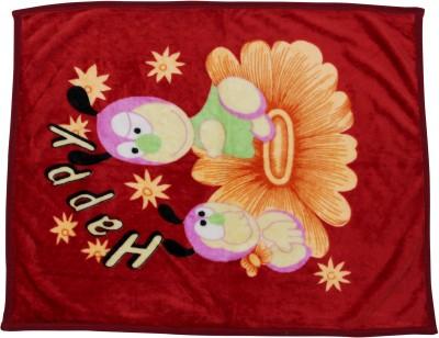 Trendz Home Furnishing Cartoon Crib Blanket Maroon