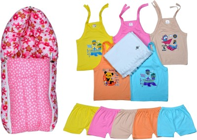 Sathiyas Baby Top&Bottom with towel and Carry Bed
