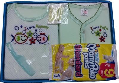 Jerry & Tom 6 Pcs Green Baby Combo Gift Set