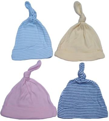 Sonpra New Born Baby Caps - Organic Soft Cotton Combo Set
