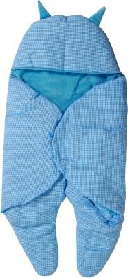 Trendz home furnishing Checkered Single Dohar Blue