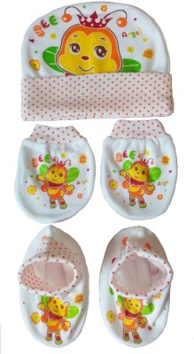 Kerokid Orange Angel Bee Mitten Bootie Cap Combo Set