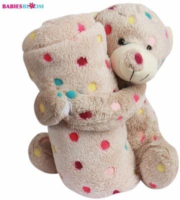 Babies Bloom Blanket/Pillow Combo(Brown)