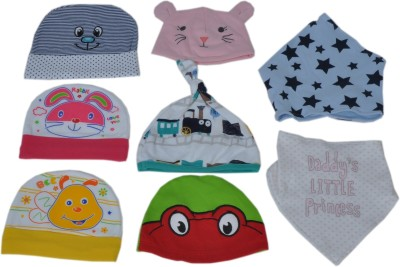Sonpra Baby Cotton Bibs Caps Combo - Born Baby Set