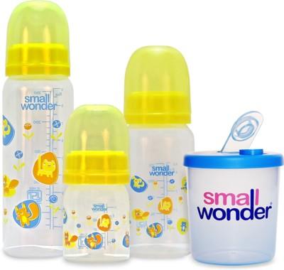 Small Wonder Admire Set of 4 - BPA Free Admire 60ml, 125ml, 250ml PP Bottle & 300ml Milk Powder Dispenser