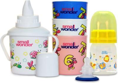Small Wonder Admire Set Of 4 - Bpa Free Admire 60ml Pp Bottle, Breast Shield, 300ml Polypropylene Feeding Glass Set Of 3 & 300ml Polypropylene Baby Sipper White
