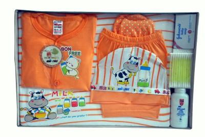 Bonfree BelleGirl 100% Cotton New Born Gift Set of 8 Pcs Peach 0-3M