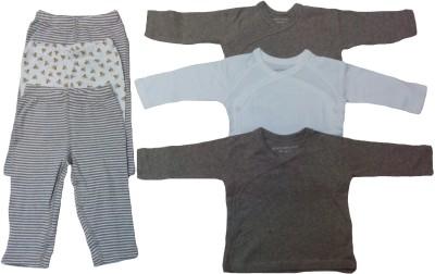 Sonpra Baby Kimono Tops with Pyjamas (0-3 Month)