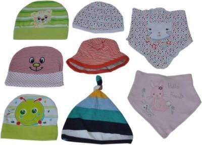 Sonpra Baby Cotton Bibs Caps Cute Combo - Born Baby Set