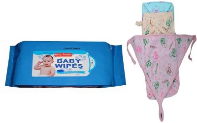 CHHOTE JANAB BABY WIPES AND 3 PRINTED NAPPY