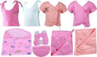 Jo Kidswear Baby Boys and Girls Gift Pack ( 9 Pcs )(Pink)