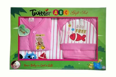 Bonfree BelleGirl 100% Cotton New Born Gift Set of 4 Pcs Regular Pink 0-3M