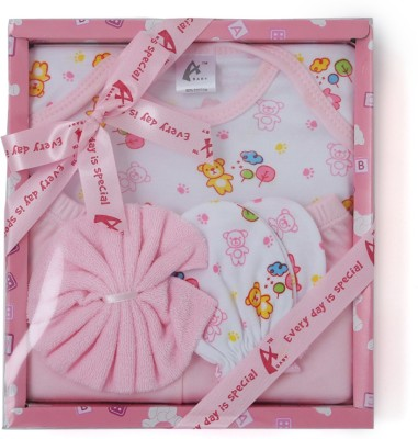 Stuff Jam 4 Piece Gift Set - Pink (0 - 1 Year)