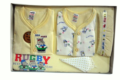 Bonfree BelleGirl 100% Cotton New Born Gift Set of 5 Pcs Cream 0-3M