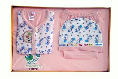 Bonfree BelleGirl 100% Cotton New Born Gift Set of 4 Pcs Premium Peach 0-3M
