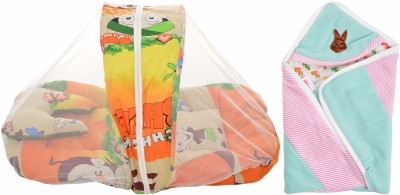 Royal Shri Om Baby Sleeping Bed With Mosquito Net And Baby Wrapper