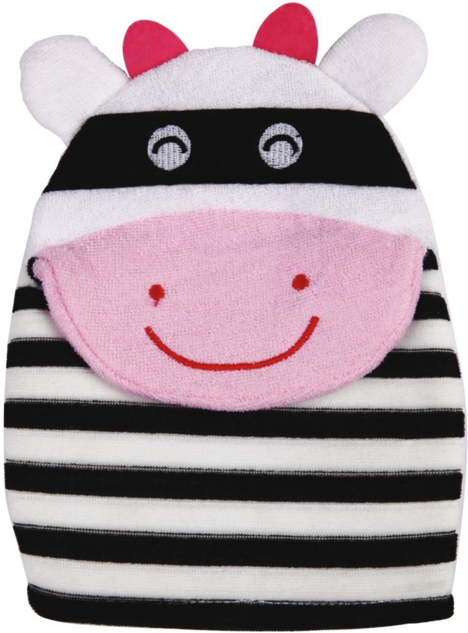 Panache Cartoon Bath Glove (Black & White)