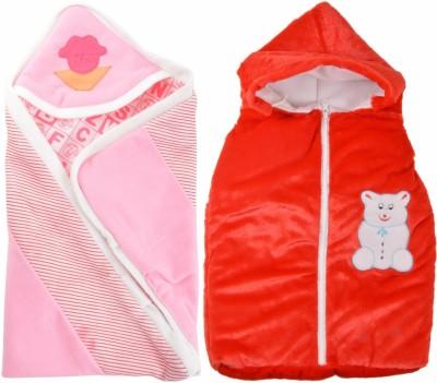 ROYAL SHRI OM REVERSABLE & NON REVERSABLE BABY WRAP (SET OF 2)