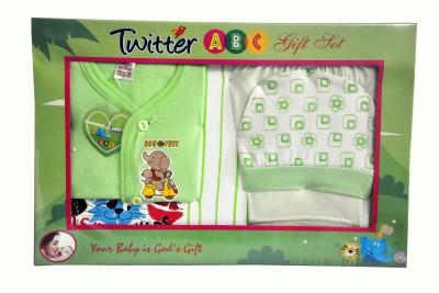 Bonfree BelleGirl 100% Cotton New Born Gift Set of 4 Pcs Regular Green 0-3M