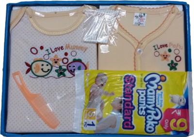 Jerry & Tom 6 Pcs Peach Baby Combo Gift Set