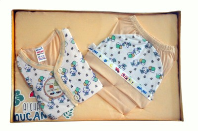 Bonfree BelleGirl 100% Cotton New Born Gift Set of 4 Pcs Premium Cream 0-3M