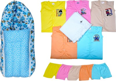 Sathiyas Baby Top&Bottom with Towel and Carry Bed(Multicolor)
