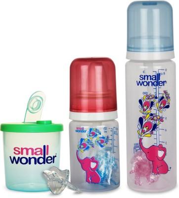 Small Wonder Pure Set of 4 - BPA Free Pure 125ml & 250ml PP Bottle, 300ml Powder Dispenser & Orthodontic LSR Pacifier
