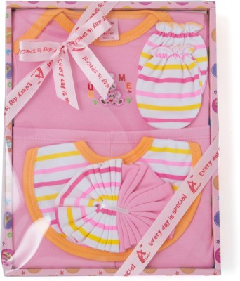 Stuff Jam 6 Piece Gift Set - Pink (0 - 1 Year)