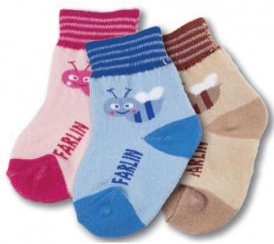 Farlin BABY ANKLE SOCKS 3 PAIR COMBO
