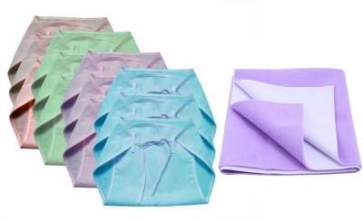 CHHOTE JANAB baby combo of 12 nappies and 1 medium dry sheet