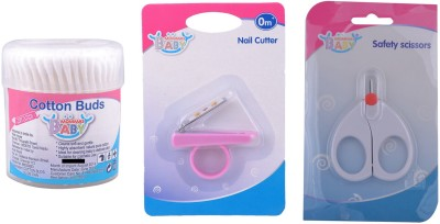 MOMMAS BABY COMBO OF 3PCS COTTON BUDS 200PCS / NAIL CUTTER / SCISSORS