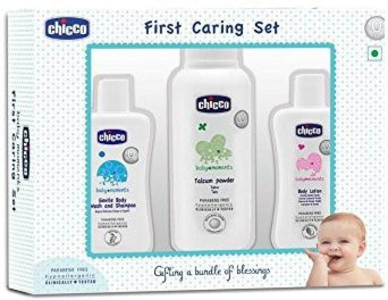 Chicco FIRST CARING 3PCS GIFT SET(Pink)