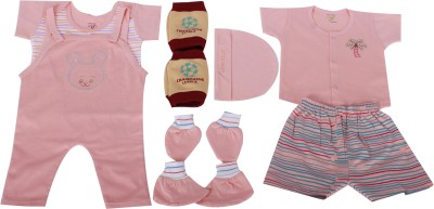 Jo Kidswear Baby Boys Gift Pack ( 6 Pcs )(Light Orange)