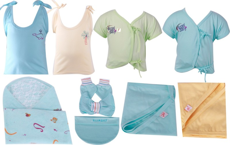 Jo Kidswear Baby Boys and Girls Gift Pack ( 9 Pcs )(Light Blue)