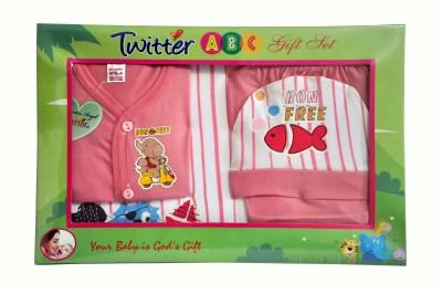 Bonfree BelleGirl 100% Cotton New Born Gift Set of 4 Pcs Regular Peach 0-3M