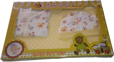 Little Hub New Born Baby Gift Set -Dark Yellow