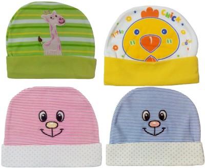 Sonpra New Born Baby Caps Stylish Cotton Hats Combo (0-3 Month Baby)