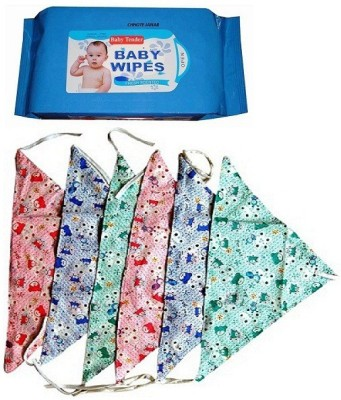 CHHOTE JANAB BABY COMBO OF WIPES AND 6 NAPPY