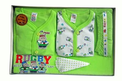 Bonfree BelleGirl 100% Cotton New Born Gift Set of 5 Pcs Green 0-3M